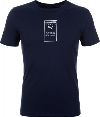 Футболка мужская Puma Brand Placed, размер 50-52Футболки<br>Для образа в спортивном стиле - удобная хлопковая футболка puma. Натуральные материалы мягкий хлопок гарантирует комфорт и воздухообмен.