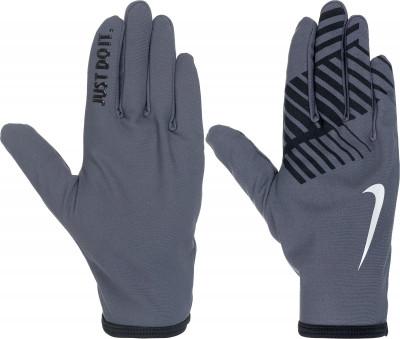 Перчатки NikeУдобные перчатки от nike станут необходимым аксессуаром для пробежек в прохладные дни.<br>Пол: Мужской; Возраст: Взрослые; Вид спорта: Бег; Производитель: Nike ABM; Артикул производителя: N.RG.G8-078; Страна производства: Китай; Материал верха: 85 % полиэстер, 15 % спандекс; Размер RU: M;