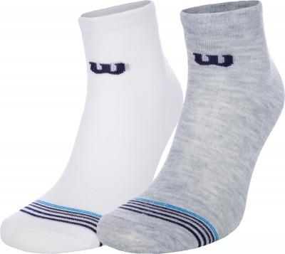Носки Wilson, 2 пары, размер 37-42Носки<br>Универсальные носки wilson для занятий спортом. Устойчивы к истиранию благодаря синтетической ткани. В комплекте 2 пары.