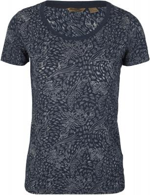 Футболка женская Outventure, размер 54Футболки<br>Женская футболка с коротким рукавом - идеальный вариант для летних прогулок и путешествий. Натуральные материалы в составе ткани преобладает натуральный хлопок.