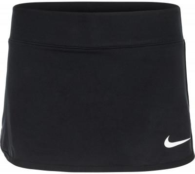 Юбка для девочек NikeТеннисная юбка с удобным эластичным поясом от nike гарантирует юным теннисисткам комфорт и удобство во время матчей и тренировок.<br>Пол: Женский; Возраст: Дети; Вид спорта: Теннис; Внутренние шорты: Да; Технологии: Nike Dri-FIT; Производитель: Nike; Артикул производителя: 832333-010; Страна производства: Камбоджа; Материалы: 81 % полиэстер, 19 % спандекс; Размер RU: 140-152;