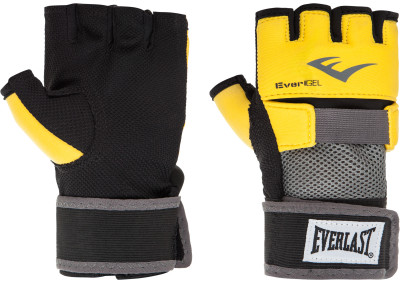Перчатки-бинты снарядные Everlast Evergel, размер 8 ozПерчатки<br>Перчатки предназначены для работы с грушей или лапами, а также могут одеваться под боксерские перчатки вместо бинтов, что позволяет сэкономить время на намотку.