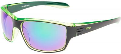 Солнцезащитные очки UvexФункциональные солнцезащитные очки. Дизайн обеспечит оптимальный обзор, а специальное покрытие litemirror- защиту от бликов и инфракрасного излучения даже при ярком свете.<br>Цвет линз: Зеленый Зеркальный; Назначение: Городской стиль; Пол: Мужской; Возраст: Взрослые; Вид спорта: Активный отдых; Ультрафиолетовый фильтр: Есть; Зеркальное напыление: Есть; Материал линз: Поликарбонат; Оправа: Пластик; Технологии: 100% UVA- UVB- UVC-PROTECTION, Decentered Lens, LITEMIRROR; Производитель: Uvex; Артикул производителя: S5308792215; Срок гарантии: 1 месяц; Страна производства: Китай; Размер RU: Без размера;