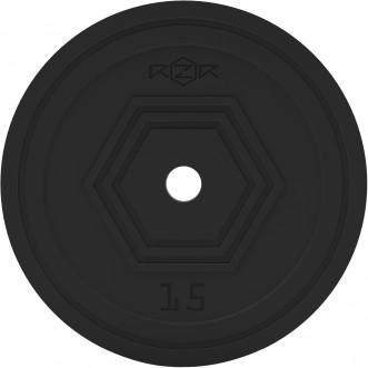 Блин стальной обрезиненный RZR 15 кг