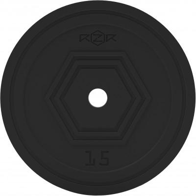 Блин стальной обрезиненный, 15 кг RZR-R150