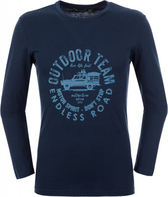 Футболка с длинным рукавом мужская Outventure, размер 58Футболки<br>Мужская футболка с длинным рукавом от outventure - отличный вариант для прогулок и путешествий.
