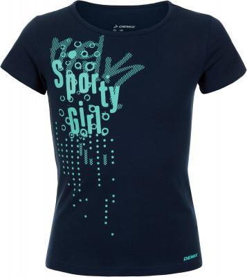 Футболка для девочек Demix, размер 164Футболки и майки<br>Удобная и яркая футболка demix для девочек, которым нравится спортивный стиль. Натуральные материалы натуральный хлопок гарантирует комфорт и воздухообмен.