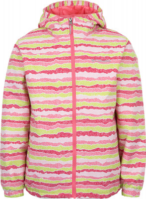 Куртка утепленная для девочек Columbia Meander MeadowУтепленная детская куртка из высококачественного нейлона отлично подходит для активного отдыха в прохладную погоду.<br>Пол: Женский; Возраст: Дети; Вид спорта: Походы; Вес утеплителя на м2: 100 г/м2; Наличие мембраны: Нет; Наличие чехла: Нет; Возможность упаковки в карман: Нет; Регулируемые манжеты: Нет; Длина по спинке: 53 см; Защита от ветра: Нет; Отверстие для большого пальца в манжете: Нет; Покрой: Прямой; Светоотражающие элементы: Да; Дополнительная вентиляция: Нет; Проклеенные швы: Нет; Длина куртки: Средняя; Наличие карманов: Да; Капюшон: Не отстегивается; Мех: Отсутствует; Количество карманов: 2; Артикулируемые локти: Нет; Застежка: Молния; Производитель: Columbia; Артикул производителя: 1770591674M; Страна производства: Вьетнам; Материал верха: 100 % нейлон; Материал подкладки: 100 % нейлон; Материал утеплителя: 100 % полиэстер; Размер RU: 137-147;
