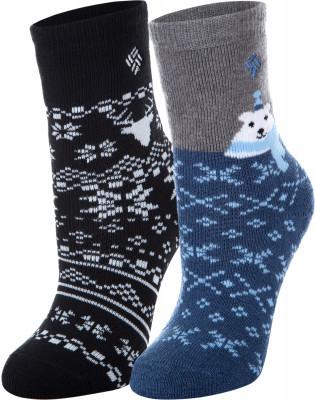 Носки для мальчиков Columbia, 2 парыДетские носки отлично подойдут для прогулок и путешествий в холодное время года. В комплекте 2 пары. Сохранение тепла благодаря натуральной шерсти, модель отлично греет.<br>Пол: Мужской; Возраст: Дети; Вид спорта: Путешествие; Плоские швы: Нет; Светоотражающие элементы: Нет; Дополнительная вентиляция: Нет; Компрессионный эффект: Нет; Производитель: Columbia; Артикул производителя: S839TNVS; Страна производства: Китай; Материалы: 63 % акрил, 27 % шерсть, 8 % полиэстер, 2 % спандекс; Размер RU: 27-30;