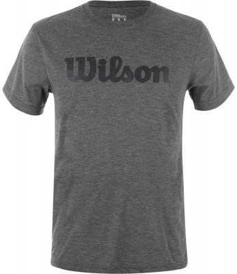 Футболка мужская WilsonТренировочная футболка wilson из коллекции urban wolf. Комфорт плоские швы не натирают кожу.<br>Пол: Мужской; Возраст: Взрослые; Вид спорта: Теннис; Покрой: Прямой; Плоские швы: Да; Материалы: 100 % полиэстер; Технологии: nanoUV, nanoWIK; Производитель: Wilson; Артикул производителя: WRA758501; Страна производства: Тунис; Размер RU: 52-54;