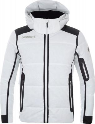 Куртка пуховая мужская Descente GeorgeТехнологичная пуховая куртка descente - оптимальный выбор для катания на горных лыжах.<br>Пол: Мужской; Возраст: Взрослые; Вид спорта: Горные лыжи; Наличие мембраны: Да; Регулируемые манжеты: Да; Длина по спинке: 73 см; Водонепроницаемость: 20 000 мм; Паропроницаемость: 20 000 г/м2/24 ч; Защита от ветра: Да; Температурный режим: До -25; Покрой: Зауженный; Дополнительная вентиляция: Да; Проклеенные швы: Да; Длина куртки: Средняя; Датчик спасательной системы: Нет; Капюшон: Отстегивается; Мех: Отсутствует; Снегозащитная юбка: Да; Количество карманов: 7; Карман для маски: Да; Карман для Ski-pass: Да; Выход для наушников: Нет; Водонепроницаемые молнии: Да; Артикулируемые локти: Да; Совместимость со шлемом: Да; Технологии: D-Lazer, Dermizax, Heat Navi, Motion 3D; Производитель: Descente; Артикул производителя: D8-8540; Страна производства: Вьетнам; Материал верха: 100 % полиэстер; Материал подкладки: 100 % полиэстер; Материал утеплителя: 80 % пух, 20 % перо; отделка: 100 % полиэстер; Размер RU: 54;