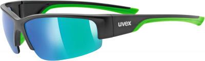 Солнцезащитные очки UvexУниверсальные очки uvex для защиты от солнца во время занятий бегом или катания на велосипеде.<br>Цвет линз: Зеленый зеркальный; Назначение: Бег,велоспорт; Пол: Мужской; Возраст: Взрослые; Вид спорта: Бег, Велоспорт; Ультрафиолетовый фильтр: Да; Зеркальное напыление: Да; Материал линз: Поликарбонат; Оправа: Пластик; Технологии: 100% UVA- UVB- UVC-PROTECTION, LITEMIRROR; Производитель: Uvex; Артикул производителя: 0617.2716; Срок гарантии: 1 месяц; Страна производства: Тайвань; Размер RU: Без размера;
