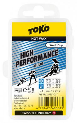 Мазь скольжения TOKO High Performance blue 40g, -10С/-30С