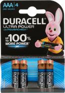 Батарейки щелочные Duracell Ultra Power ААА/LR03, 4 шт.