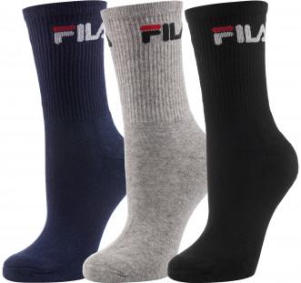 Носки Fila, 3 пары черный синий серый цвет - купить за 499 руб. в ... 76783cc5ef7