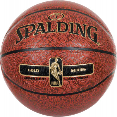 Мяч баскетбольный Spalding NBA Gold SeriesБаскетбольный мяч для соревнований и тренировок различного уровня. Выдающееся сцепление и контроль мяча благодаря использованию эксклюзивной композитной кожи.<br>Возраст: Взрослые; Вид спорта: Баскетбол; Тип поверхности: Универсальные; Назначение: Тренировочные; Материал покрышки: Композитная кожа; Материал камеры: Бутил; Способ соединения панелей: Клееный; Количество панелей: 8; Вес, кг: 0,569-0,61; Производитель: Spalding; Артикул производителя: 76-014Z; Страна производства: Китай; Размер RU: 7;