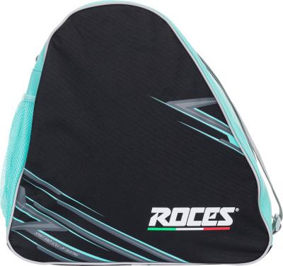 Сумка для роликов RocesУдобная сумка для переноски и хранения роликовых коньков. Модель подходит также для ледовых коньков.<br>Размеры (дл х шир х выс), см: 37 x 21 x 38; Объем: 25 л; Количество отделений: 1; Количество карманов: 1; Материал верха: 100 % полиэстер; Материал подкладки: 100 % полиэстер; Вид спорта: Роликовые коньки; Производитель: Roces License; Артикул производителя: ERCRO002BQ; Срок гарантии: 2 года; Страна производства: Китай; Размер RU: Без размера;