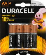 Батарейки щелочные Duracell BASIC CN АА/LR6, 4 шт.