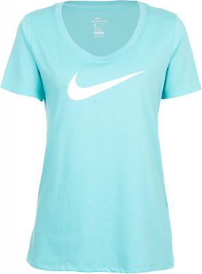 Футболка женская Nike DryУдобная женская футболка для фитнеса от nike dry. Отведение влаги ткань, выполненная по технологии nike dri-fit, эффективно отводит влагу от кожи.<br>Пол: Женский; Возраст: Взрослые; Вид спорта: Фитнес; Покрой: Прямой; Материалы: 58 % хлопок, 42 % полиэстер; Производитель: Nike; Артикул производителя: 894663-446; Страна производства: Китай; Размер RU: 48;