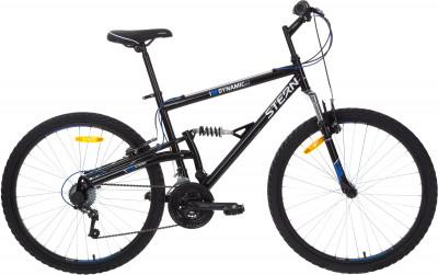 Stern Dynamic 1.0 FS 26 (2018)Отличный горный велосипед со стальной двухподвесной рамой идеально подходит для начинающих поклонников велоспорта.<br>Материал рамы: Сталь; Размер рамы: 20; Амортизация: Full suspension; Конструкция рулевой колонки: Неинтегрированная; Наименование вилки: HL BRAVO-325E, 26, шток 25,4 мм; Конструкция вилки: Пружинно-эластомерная; Ход вилки: 50 мм; Материал педалей: Пластик; Система: Prowheel; Количество скоростей: 18; Наименование переднего переключателя: Sunrace FDM2S; Наименование заднего переключателя: Sunrace RDM2T; Конструкция педалей: Классические; Наименование манеток: SUNRACE TSM-28; Конструкция манеток: Вращающиеся ручки; Тип переднего тормоза: Ободной; Тип заднего тормоза: Ободной; Материал втулок: Сталь; Диаметр колеса: 26; Тип обода: Двойной; Материал обода: Алюминий; Наименование покрышек: Wanda 26 x 1,95; Возможность крепления боковых колес: Нет; Материал руля: Сталь; Название шифтера: Sunrace TSM-28; Конструкция руля: Изогнутый; Регулировка руля: Да; Регулировка седла: Да; Амортизационный подседельный штырь: Нет; Сезон: 2018; Максимальный вес пользователя: 90 кг; Вид спорта: Велоспорт; Технологии: Hi-ten steel, Rear Suspension System; Производитель: Stern; Артикул производителя: 18DYNFS20; Срок гарантии: 2 года; Вес, кг: 17,3; Страна производства: Китай; Размер RU: 20;