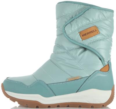 Сапоги утепленные для девочек Merrell License Dakota, размер 30Ботинки и сапоги <br>Удобные и теплые сапоги для девочек merrell dakota отлично подойдут для зимних прогулок.