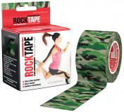 Кинезио-тейп Rocktape 5 см х 5 м, зеленый камуфляж