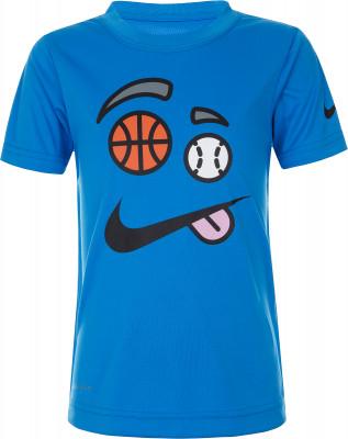 Футболка для мальчиков Nike, размер 116Футболки и майки<br>Для самых маленьких поклонников спортивного стиля - футболка от nike. Отведение влаги технология dri-fit обеспечивает влагоотвод.