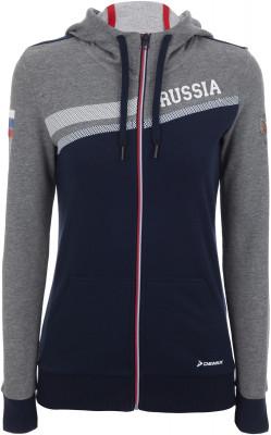 Джемпер женский Demix, размер 44Джемперы<br>Женский джемпер из линейки russian team для поклонниц спорта и болельщиц российской сборной.
