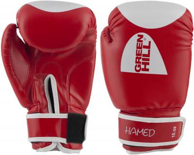 Перчатки боксерские Green Hill HamedПрочные боксерские перчатки со специальным уплотнителем предназначены для тренировок.<br>Вес, кг: 10 oz; Тип фиксации: Липучка; Материал верха: Искусственная кожа; Материал наполнителя: Пенополиуретан; Вид спорта: Бокс; Производитель: Green Hill; Артикул производителя: BGH-2036; Срок гарантии: 3 месяца; Страна производства: Пакистан; Размер RU: 10 oz;