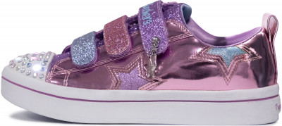 Кеды для девочек Skechers Twi-Lites-Twinkle Starz, размер 31,5Кеды <br>Оригинальные кеды для девочек от skechers - идеальный выбор для юных любительниц спортивного стиля.