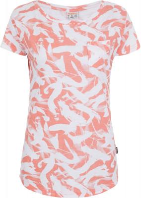 Футболка женская Merrell, размер 50Футболки<br>Удобная и при этом оригинальная принтованная футболка от merrell пригодится в путешествиях.