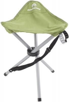 Стул OutventureПопулярный складной туристический стул на 3 ножках идеально подойдет для любого вида отдыха на свежем воздухе.<br>Срок гарантии: 2 года; Вид спорта: Кемпинг; Вес, кг: 0,8; Максимальная нагрузка, кг: 100; Размер в рабочем состоянии (дл. х шир. х выс), см: 43 х 34 х 36; Размер в сложенном виде (дл. х шир. х выс), см: 56,5 х 6,5; Материал каркаса: Сталь; Материал сидушки: Полиэстер; Производитель: Outventure; Пол: Мужской; Размер RU: Без размера;