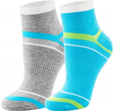 Носки женские Demix, 2 парыЯркие носки demix прекрасно подойдут для занятий спортом и повседневной носки. В комплекте 2 пары.<br>Пол: Женский; Возраст: Взрослые; Вид спорта: Бег; Материалы: 51 % хлопок, 23 % нейлон, 21 % полиэстер, 5 % эластан; Производитель: Demix; Артикул производителя: KWCZ02AQS; Страна производства: Пакистан; Размер RU: 35-38;