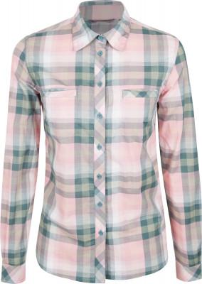 Рубашка с длинным рукавом женская Outventure, размер 44Рубашки<br>Женская рубашка с длинным рукавом - оптимальный вариант для поездок и путешествий. Натуральные материалы ткань из 100 % хлопка обеспечивает комфорт и отличный воздухообмен.