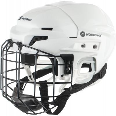 Шлем хоккейный с маской детский NordwayКлассический детский хоккейный шлем от nordway для полевого игрока.<br>Пол: Мужской; Возраст: Дети; Вид спорта: Хоккей; Уровень подготовки: Начинающий; Материал подкладки: Вспененный этиленвинилацетат; Конструкция: Hard shell; Регулировка размера: Да; Тип регулировки размера: С помощью отвёртки; Материал внешней раковины: Ударопрочный пластик; Материал корпуса: Ударопрочный пластик; Материал внутренней раковины: Пластик, полиэтилен, полипропилен; Материалы: пластик, пена, металл; Сертификация: Не подлежит; Вентиляция: Принудительная; Вес, кг: 0,840; Производитель: Nordway; Артикул производителя: HJW-14-M; Срок гарантии: 1 год; Страна производства: Китай; Размер RU: M;