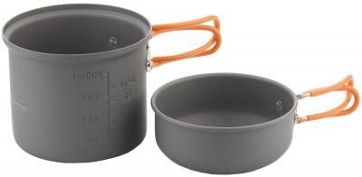 Набор посуды OutventureНабор посуды, состоящий из котелка и миски, подойдет для приготовления пищи в походах и во время отдыха на природе.<br>Вес, кг: 0,35; Размеры (дл х шир х выс), см: 14,5 х 14,5 х 18; Производитель: Outventure; Срок гарантии: 1 год; Вид спорта: Кемпинг, Походы; Артикул производителя: U03392; Страна производства: Китай; Размер RU: Без размера;