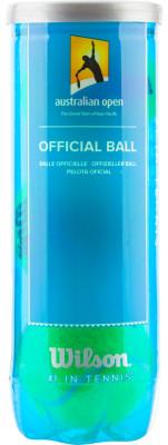 Набор теннисных мячей Wilson Australian Open 3 BallНабор теннисных мячей для профессиональной игры. Является мячом первого турнира большого шлема 2006 года.<br>Пол: Мужской; Возраст: Взрослые; Вид спорта: Большой теннис; Материалы: Войлочный материал, резина; Состав: Войлочный материал, резина; Диаметр: 67 мм; Технологии: NanoPlay; Производитель: Wilson; Артикул производителя: WRT104800; Страна производства: Соединенные Штаты; Размер RU: Без размера;