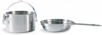 Набор посуды: котелок, сковорода-миска Tatonka KETTLE 1.0 L