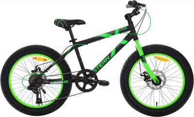 Stern Force 20 (2018)Горный велосипед force 20 разработан специально для мальчиков 6-9 лет.<br>Материал рамы: Сталь; Амортизация: Rigid; Конструкция рулевой колонки: Неинтегрированная; Конструкция вилки: Жесткая; Материал педалей: Пластик; Количество скоростей: 7; Наименование заднего переключателя: Shimano RD-TZ31; Конструкция педалей: Классические; Наименование манеток: MICROSHIFT MS-25-7R; Конструкция манеток: Вращающиеся ручки; Тип переднего тормоза: Дисковый механический; Тип заднего тормоза: Дисковый механический; Материал втулок: Сталь; Диаметр колеса: 20; Тип обода: Одинарный; Материал обода: Алюминий; Наименование покрышек: Chaoyang H588, 20 x 3,0; Возможность крепления боковых колес: Нет; Материал руля: Сталь; Название шифтера: MICROSHIFT MS-25-7R; Конструкция руля: Изогнутый; Регулировка руля: Да; Регулировка седла: Да; Амортизационный подседельный штырь: Нет; Сезон: 2018; Максимальный вес пользователя: 60 кг; Вид спорта: Велоспорт; Технологии: Hi-ten steel; Производитель: Stern; Артикул производителя: 18FORC20; Срок гарантии: 2 года; Вес, кг: 14,9; Страна производства: Китай; Размер RU: 120-140;