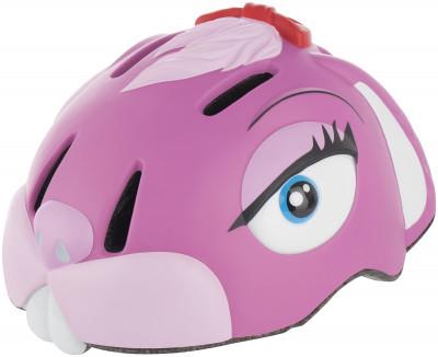 Шлем велосипедный детский Crazy Stuff Pink BunnyЗабавный шлем в виде звериной головы не оставит равнодушным вашего ребенка.<br>Регулировка размера: Нет; Материал внешней раковины: Пенополистирол, поликарбонат; Сертификация: EN 1078; Производитель: Crazy Stuff; Артикул производителя: 110216-10; Срок гарантии: 2 года; Страна производства: Китай; Размер RU: 49-55 см;