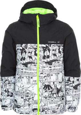 Куртка утепленная для мальчиков ONeill HubbleДетская куртка от o neill предназначена для занятий сноубордингом. Водонепроницаемая мембрана мембрана hyperdry надежно защищает от влаги.<br>Пол: Мужской; Возраст: Дети; Сезон: Зима; Вид спорта: Сноубординг; Вес утеплителя на м2: 100 г/м2; Наличие мембраны: Да; Водонепроницаемость: 10 000 мм; Паропроницаемость: 10 000 г/м2/24 ч; Защита от ветра: Да; Отверстие для большого пальца в манжете: Да; Покрой: Свободный; Дополнительная вентиляция: Нет; Проклеенные швы: Да; Длина куртки: Средняя; Капюшон: Не отстегивается; Мех: Отсутствует; Снегозащитная юбка: Да; Количество карманов: 4; Карман для маски: Да; Карман для Ski-pass: Да; Выход для наушников: Нет; Водонепроницаемые молнии: Да; Артикулируемые локти: Да; Технологии: FIREWALL, HyperDry; Производитель: ONeill; Артикул производителя: 7P0084; Страна производства: Камбоджа; Материал верха: 100 % полиэстер; Материал подкладки: 60 % полиамид, 40 % полиэстер; Материал утеплителя: 100 % полиэстер; Размер RU: 164;