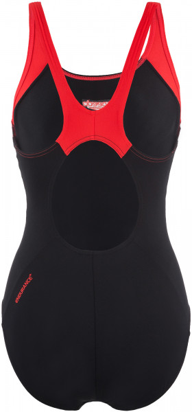 e82b953c579e9 Купальник женский Speedo Boom Splice Muscleback черный/красный цвет —  купить за 3199 руб. в интернет-магазине Спортмастер
