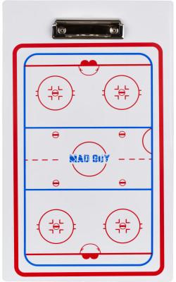 Доска тактическая MadGuy HockeyТактическая хоккейная доска madguy размером 23 x 40 см служит для планирования и согласования действий хоккейной команды.<br>Размер (Д х Ш), см: 40 х 23 см; Материалы: Пластик; Производитель: MadGuy; Вид спорта: Хоккей; Артикул производителя: 4620765159377; Страна производства: Китай; Размер RU: Без размера;