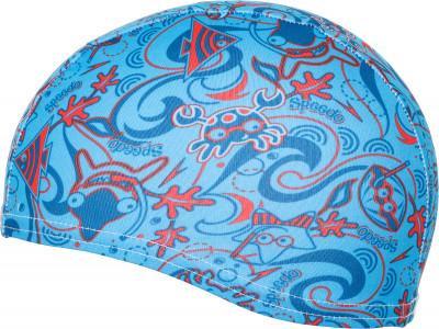 Шапочка для плавания детская Speedo Sea SquadШапочки для плавания<br>Детская шапочка speedo из полиэстера - отличный выбор для занятий в бассейне. Яркий дизайн понравится юным пловцам, а конструкция из панелей обеспечивает комфортную посадку.