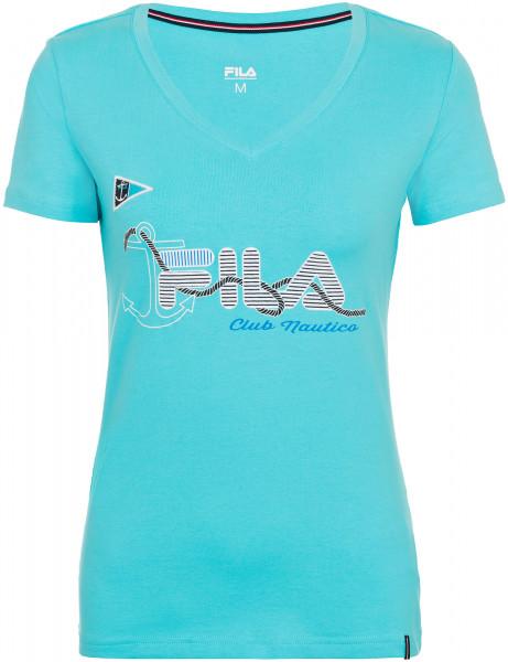 d647407ddb10 Футболка женская Fila лазурный цвет - купить за 399 руб. в  интернет-магазине Спортмастер