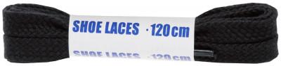 Шнурки черные плоские Woly Sport, 120 см