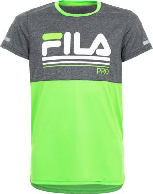 Футболка для мальчиков Fila, размер 128Футболки и майки<br>Удобная детская футболка для тренинга от fila. Свобода движений продуманный прямой крой не стесняет движения.