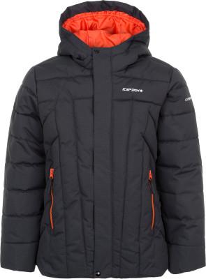 Куртка утепленная для мальчиков IcePeak RasiКуртка для мальчиков icepeak rasi пригодится в путешествиях. Сохранение тепла в куртке используется технологичный утеплитель super soft touch.<br>Пол: Мужской; Возраст: Дети; Вид спорта: Путешествие; Вес утеплителя на м2: 190 г/м2; Наличие чехла: Нет; Возможность упаковки в карман: Нет; Длина по спинке: 60 см; Водонепроницаемость: 10 000 мм; Паропроницаемость: 5000 г/м2/24 ч; Покрой: Прямой; Дополнительная вентиляция: Нет; Проклеенные швы: Нет; Капюшон: Не отстегивается; Мех: Отсутствует; Количество карманов: 2; Водонепроницаемые молнии: Нет; Технологии: Children's safety, Icetech 10 000/5 000, Reflectors, Super Soft Touch; Производитель: IcePeak; Артикул производителя: 50127553XV; Страна производства: Китай; Материал верха: 100 % полиэстер; Размер RU: 128;