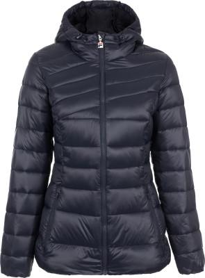 Куртка утепленная женская FilaТеплая женская куртка с капюшоном от fila, выполненная в спортивном стиле. Сохранение тепла синтетический утеплитель хорошо защищает от холода.<br>Пол: Женский; Возраст: Взрослые; Вид спорта: Спортивный стиль; Защита от ветра: Нет; Покрой: Приталенный; Светоотражающие элементы: Нет; Дополнительная вентиляция: Нет; Проклеенные швы: Нет; Длина куртки: Короткая; Наличие карманов: Да; Капюшон: Не отстегивается; Количество карманов: 2; Артикулируемые локти: Нет; Застежка: Молния; Производитель: Fila; Артикул производителя: FLJAW02Z4L; Страна производства: Китай; Материал верха: 100 % нейлон; Материал подкладки: 100 % полиэстер; Материал утеплителя: 100 % полиэстер; Размер RU: 48;