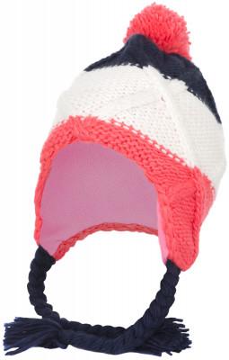Шапка для девочек GlissadeВязанная шапка с завязками и помпоном с теплой флисовой подкладкой, защищающей уши от ветра и холода для девочек 7-12 лет. Стильный дизайн колор блок.<br>Пол: Женский; Возраст: Дети; Вид спорта: Горные лыжи; Материал верха: 100 % акрил; Материал подкладки: 100 % полиэстер; Производитель: Glissade; Артикул производителя: SHAG01Z454; Страна производства: Китай; Размер RU: 54-56; Цвет: разноцветный;